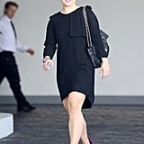 Kelly Osbourne wore black to the baby shower.