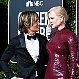 Nicole Kidman and Keith Urban at the 2019 Golden Globes