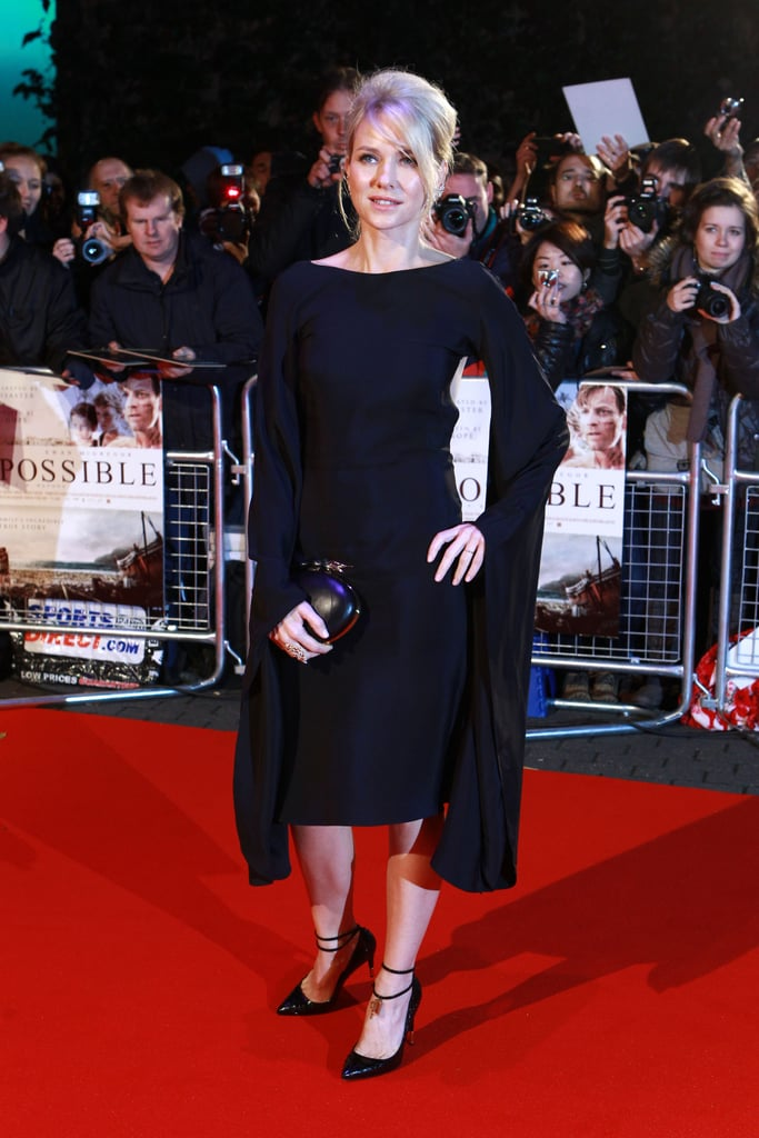 Naomi Watts wore Tom Ford to the London premiere of The Impossible.