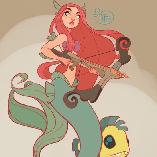Warrior Disney Princess Art