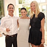 Gwyneth hosted a Baby Buggy shopping event with her friends Jerry and Jessica Seinfeld in the Hamptons in July 2010.