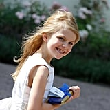 Princess Estelle Sports Long Blonde Locks at Crown Princess Victoria's Birthday Party