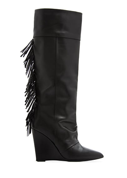 These cool-girl Mango Fringed Leather Wedge Boots ($280) also have a practical wedge heel that means they're actually made for walking.