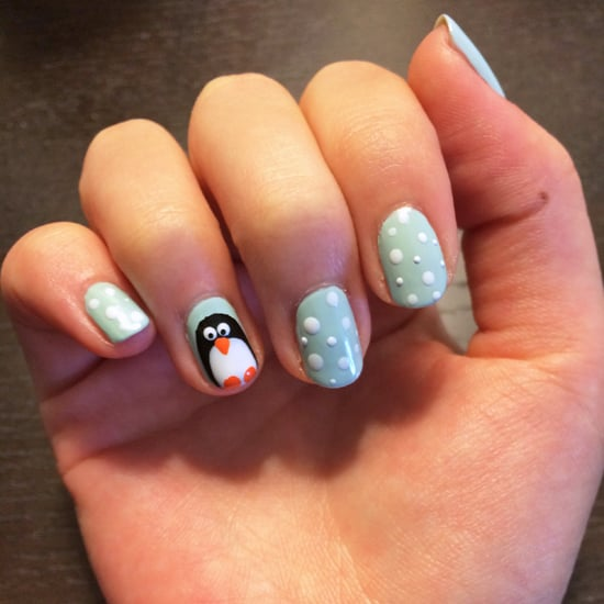 Penguin Nail Art Tutorial