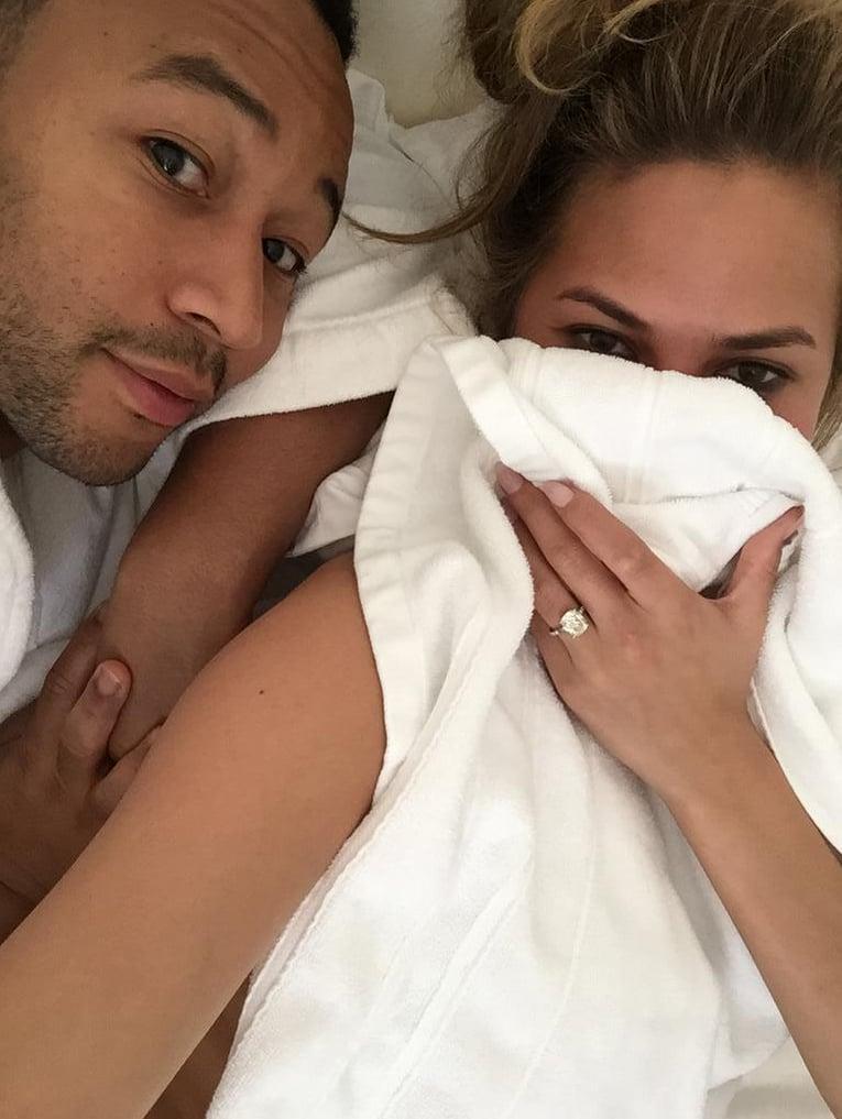 Chrissy Teigen and John Legend Spending the Day in Bed