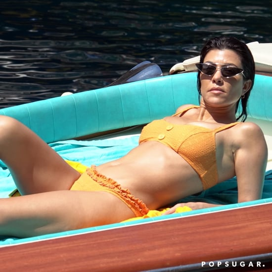 Kourtney Kardashian Orange Bikini in Italy June 2018