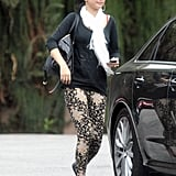 Selena Gomez made her way to her car after lunch with her mom in LA.