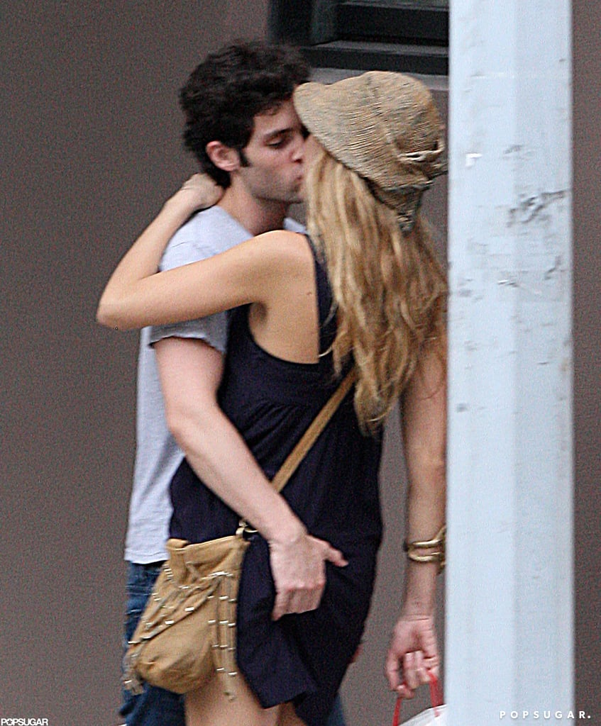Penn Badgley got a handful during an NYC makeout session with Blake Lively in July 2010.