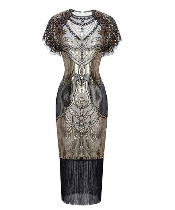 Fairy Couple 1920s Knee Length Flapper Party Cocktail Dress