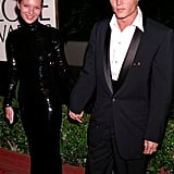 Even in the early days, Kate knew how dramatic an all-black look can be, opting for all-over sequins for the 1995 Golden Globe Awards. Of course, she had the best accessory to finish the look. Johnny Depp makes everything look better!