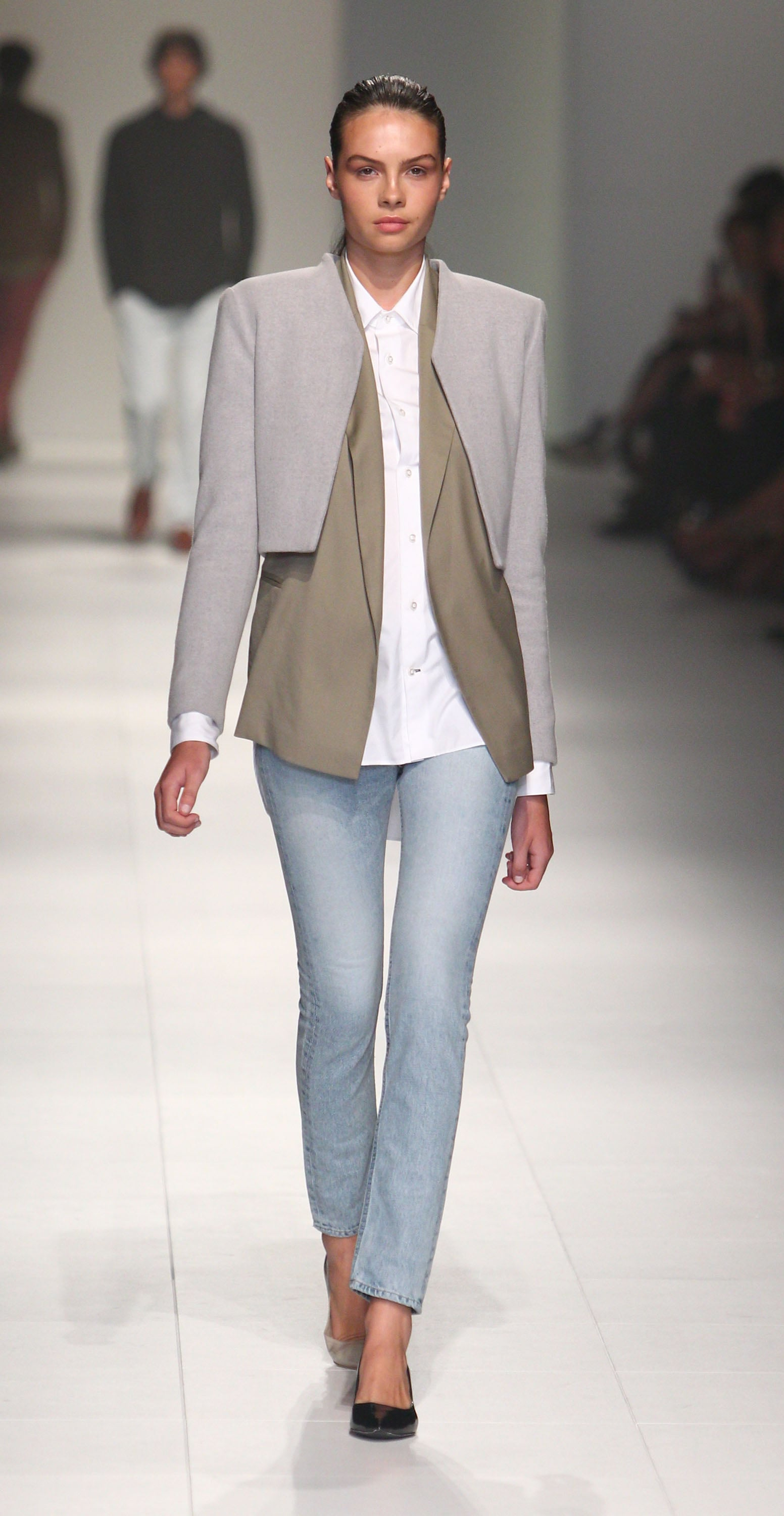 Bassike's denim and simple separates exemplified dressed-down chic.