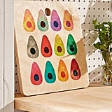 Rainbow Avocado Cutting Board