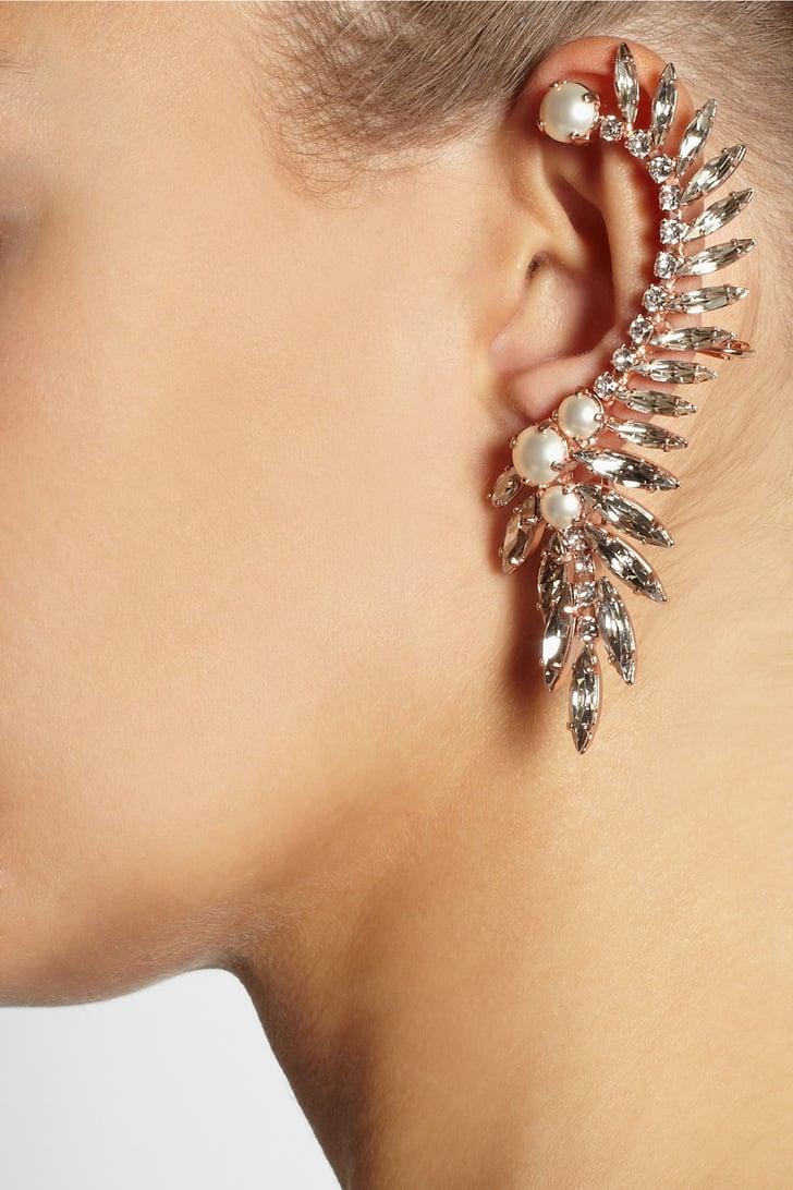 Swarovski Ryan Storer Rose Gold Crystal and Pearl Ear