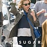 Scarlett Johansson Debuts Her Baby Bump in Paris