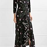 RIXO London Gabriele Ruffled Floral-Print Silk Crepe de Chine Maxi Dress
