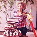 Lauren Conrad got done up in westernwear to celebrate her 28th-birthday hoedown. Source: Instagram user laurenconrad