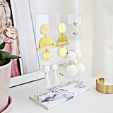 Marble Base Earring Holder