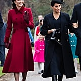 Kate Middleton and Meghan Markle at Christmas Service 2018