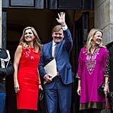 Queen Máxima and King Willem-Alexander attend an award ceremony in Amsterdam.