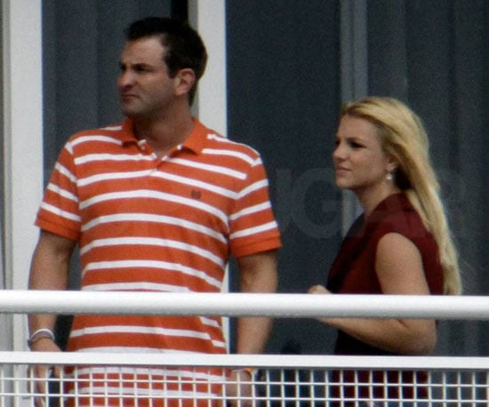 Slide Photo of Britney Spears and Her Brother at Their Hotel in Miami