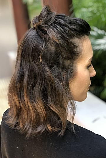 Bob Haircut How To   Braided Top Knot Hairstyle