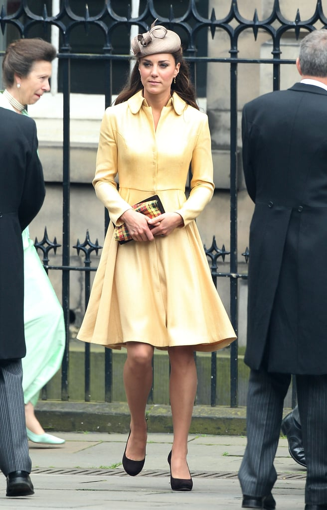 Kate Wearing Her Emilia Wickstead Coat in 2012 at the Thistle Ceremony