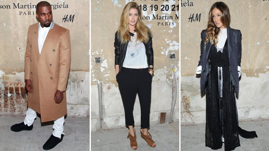 Kanye West, Doutzen Kroes, and More Step Out For H&M's Margiela Collaboration