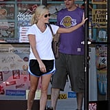 Reese Witherspoon and Jim Toth got into casual gear in July 2010.