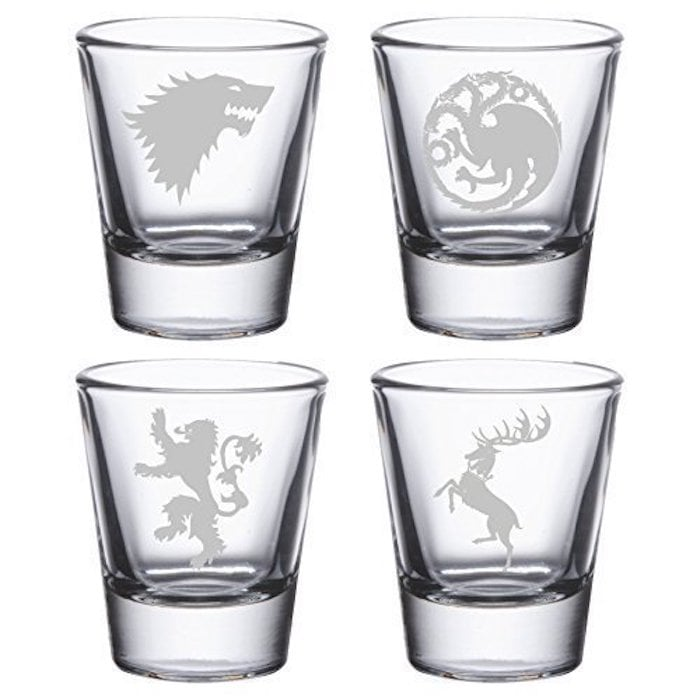 Game of Thrones Etched Shot Glasses