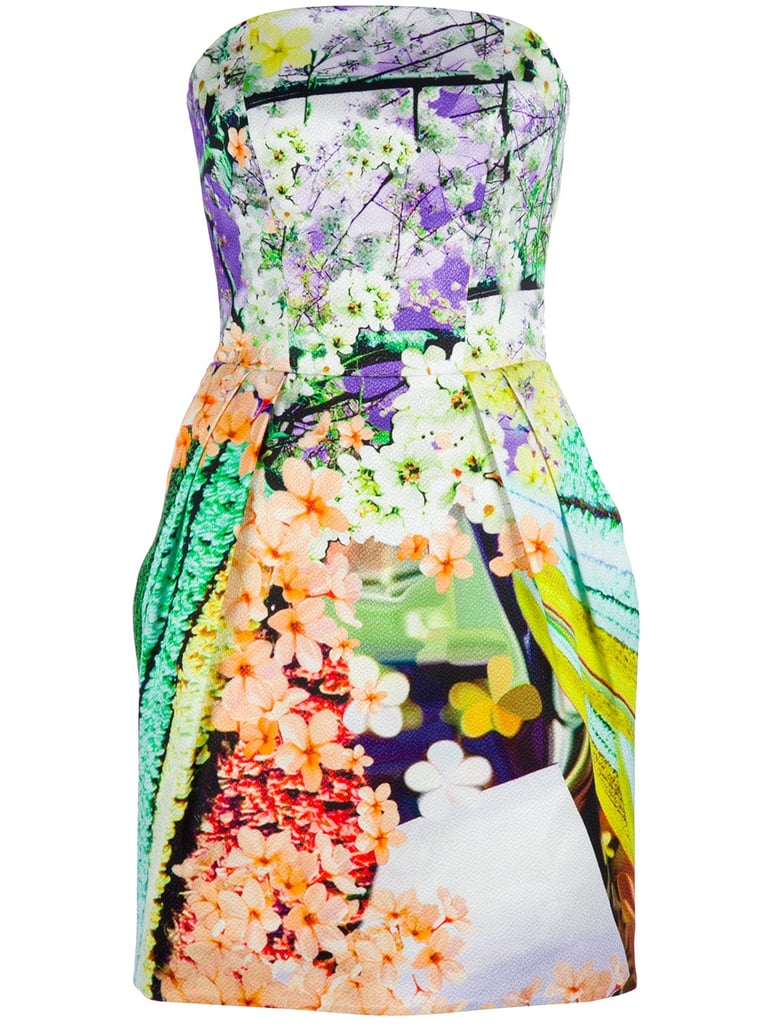 Mary Katrantzou is running the bold floral game right now, and it's easy to see why: this strapless dress is ultraflattering, and the color combination makes a perfect palette for any type of shoe or accessory. Mary Katrantzou Floral Bustier Dress ($1,559, originally $1,949)