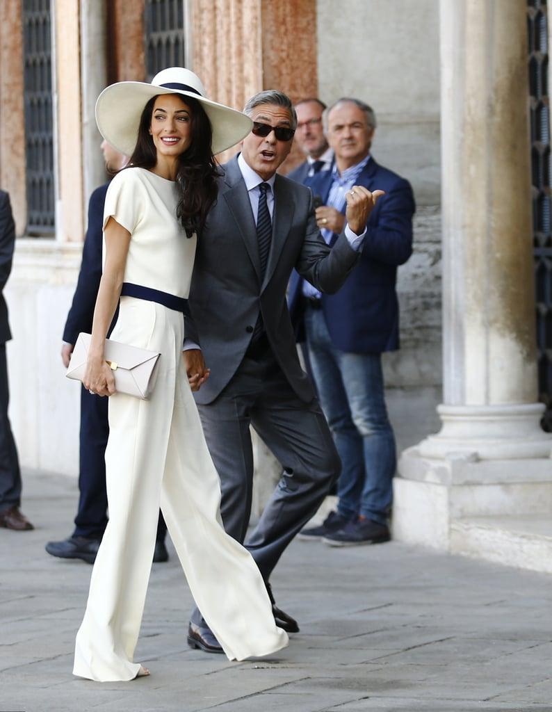 5b30bb1c28 Amal's Wide-Brim Hat | Amal Clooney Affordable Outfits | POPSUGAR ...