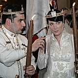David Bagration and Princess Anna Bagration-Gruzinsky The Bride: Princess Anna Bagration-Gruzinsky, daughter of Prince Nugzar Bagration Gruzinsky and actress Leila Kipiani. The Groom: Prince David Bagration of Mukhrani, a claimant to the headship of the Royal House of Georgia. When: The arranged marriage took place on Feb. 8, 2009. Where: They were married at the Tbilisi Sameba Cathedral in the capital of Georgia.