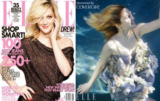 Drew Barrymore in Elle Magazine