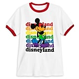Rainbow Disney Collection Mickey Mouse Ringer T-Shirt For Kids — Disneyland