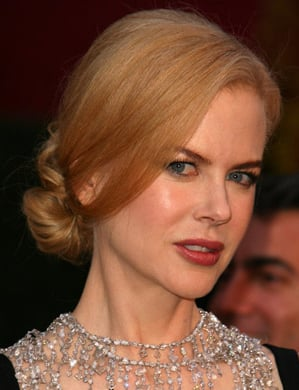 Nicole Kidman at the Oscars: hair and makeup