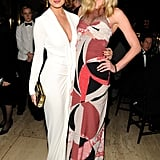 Chrissy Teigen and Anne Vyalitsyna attended the amfAR New York Gala.