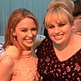 Kylie Minogue and Rebel Wilson hung out together at the Glamour Women of the Year Awards in London. Source: Twitter user RebelWilson