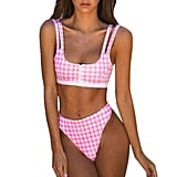 Sukeq Plaid Swimsuit