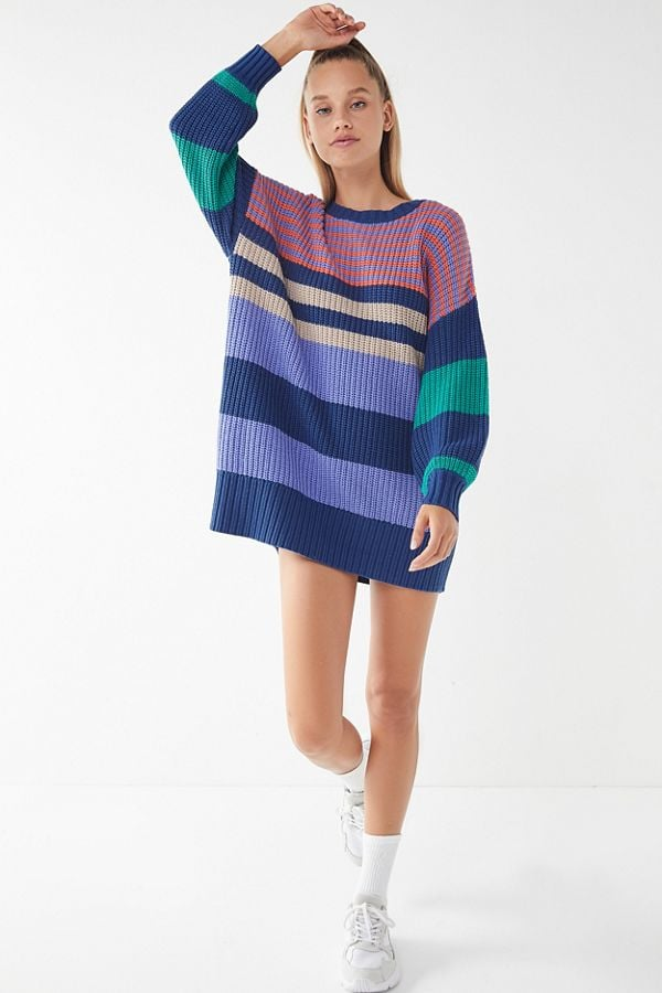 424baa480d UO Whistler Striped Sweater Dress
