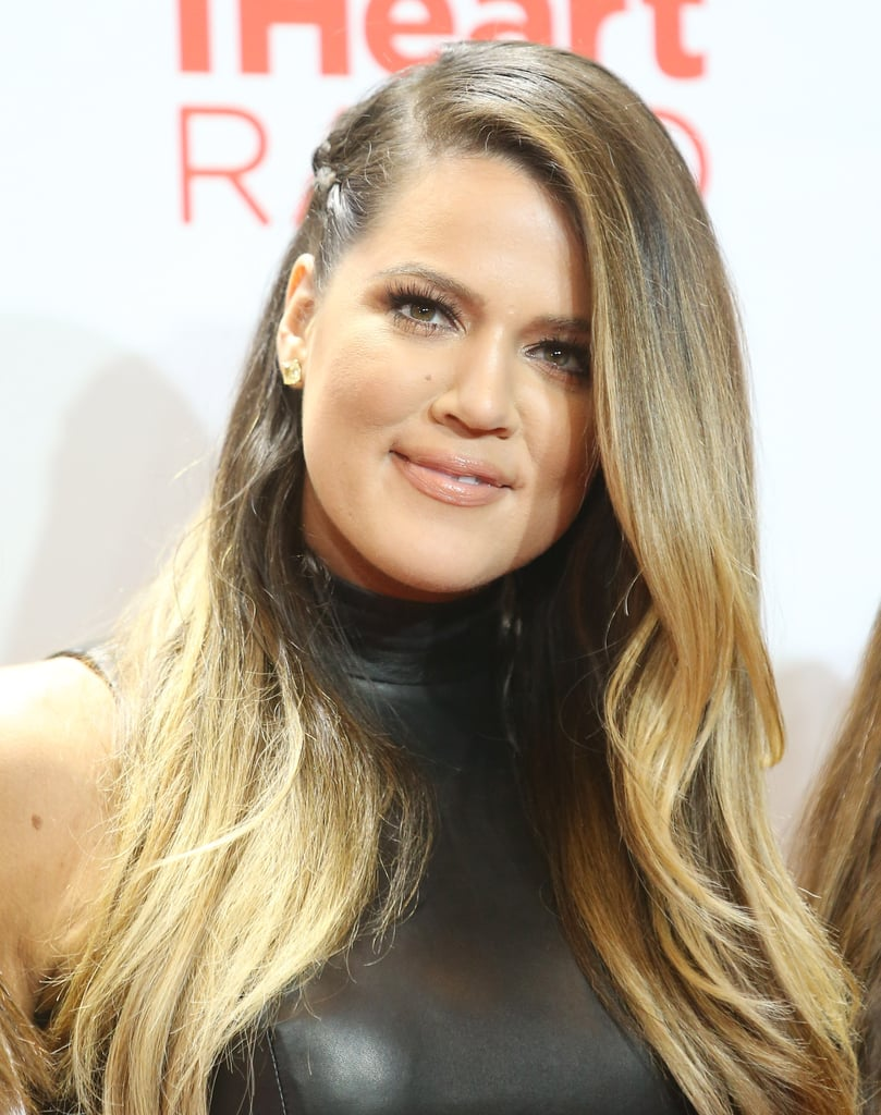 Khloé Kardashian knows the trends: the reality star paired her ombré strands with a faux-undercut braid on the side.