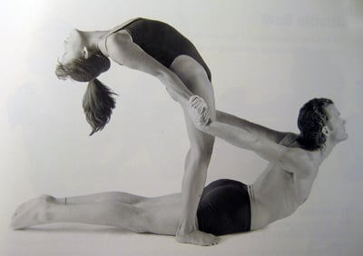 partner yoga pose rising cobra  popsugar fitness