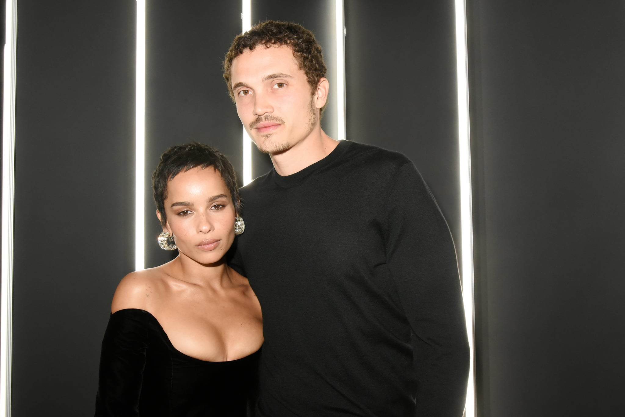 PARIS, FRANCE - JANUARY 17:  Zoe Kravitz and Karl Glusman attend YSL Beauty Party During Paris Fashion Week Menswear Fall/Winter 2018-2019 on January 17, 2018 in Paris, France.  (Photo by Foc Kan/WireImage)