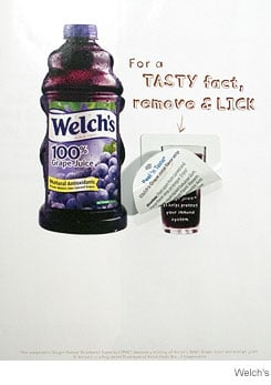 Welch's Introduce an Ad you can taste