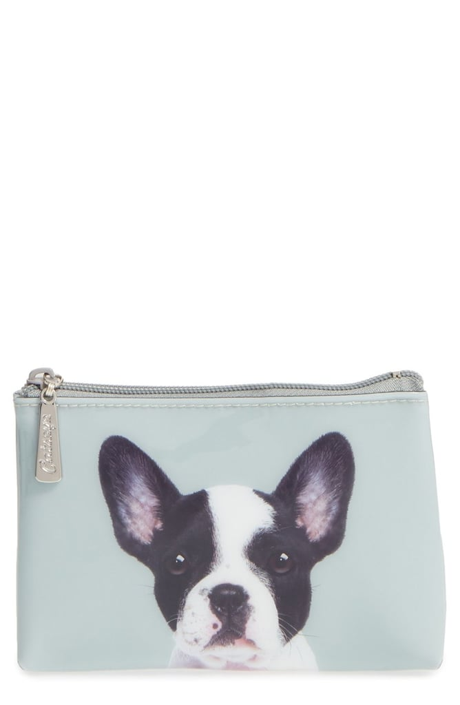 Women's Catseye London Small Boston Terrier Zip Pouch — Green