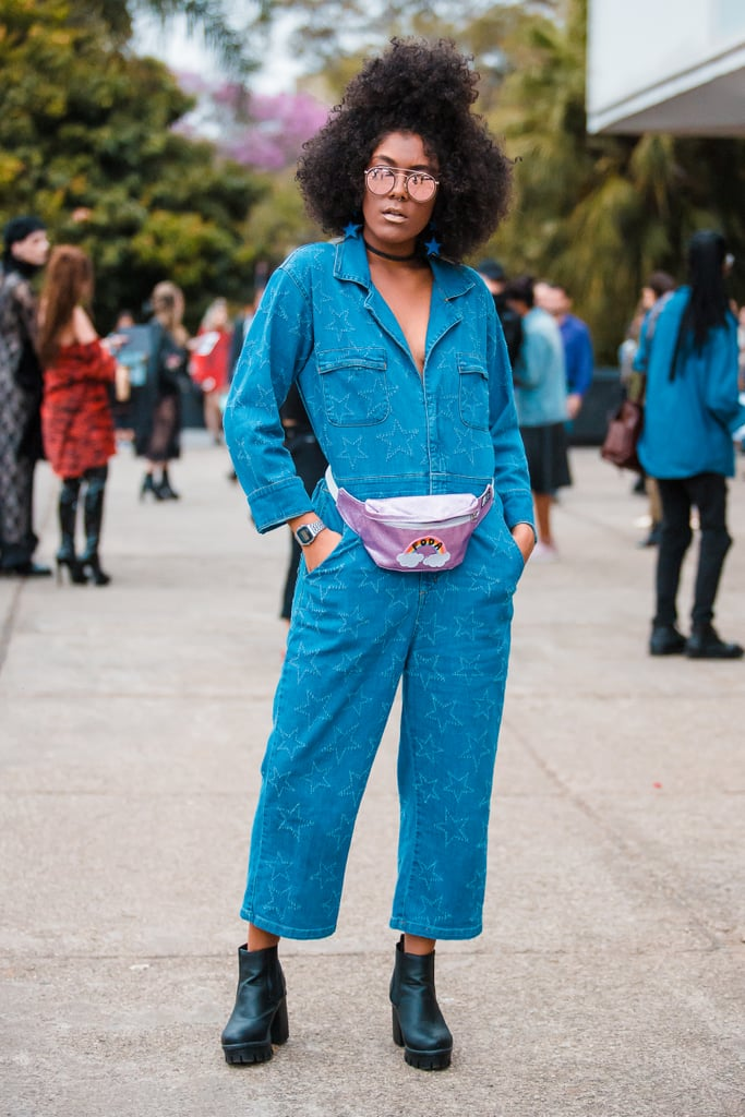 Style One With a Denim Jumpsuit and Chunky Boots