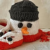 Snowman Cap and Booties