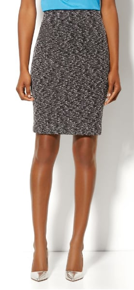 We love this New York & Company bouclé pencil skirt ($37) — very ladies-who-lunch.