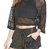 Ivy Park Satin & Mesh Crop Top