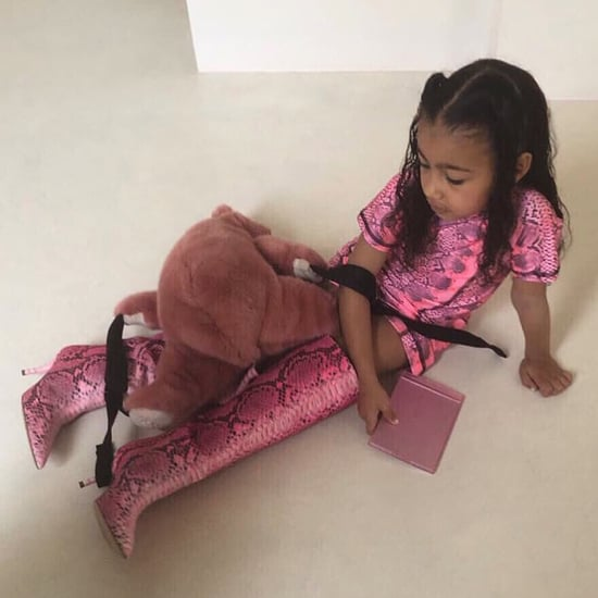 North West Wearing Kim Kardashian's Boots April 2019