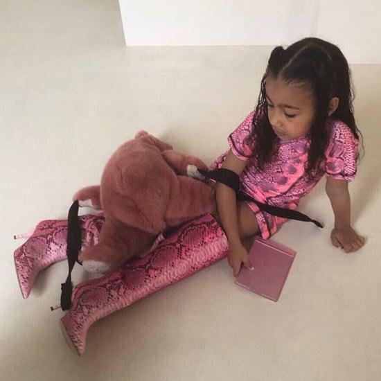 North West Wearing Kim Kardashian's Boots April 2019